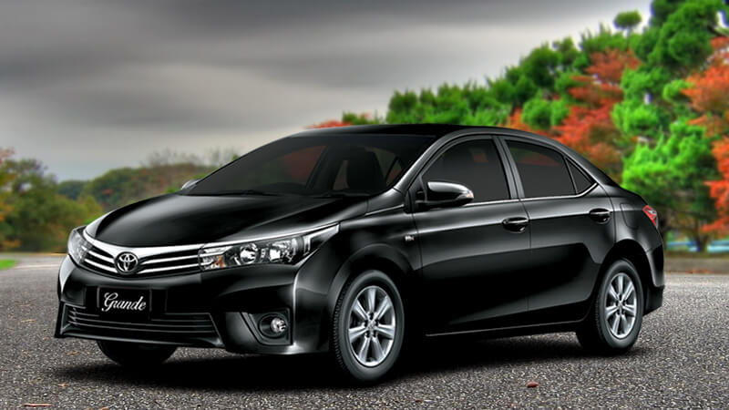 Toyota Corolla Grande in Attitude Black Color