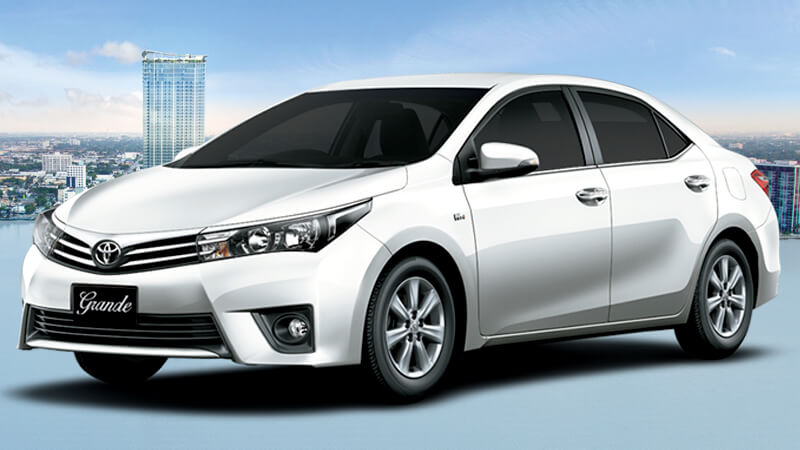 Toyota Corolla Grande Super White Color