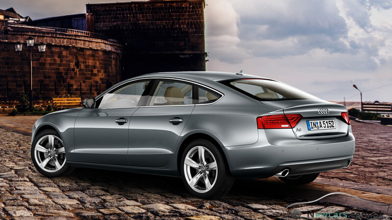Audi A5 Rear and Side View