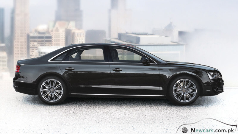 Audi A8 Side View