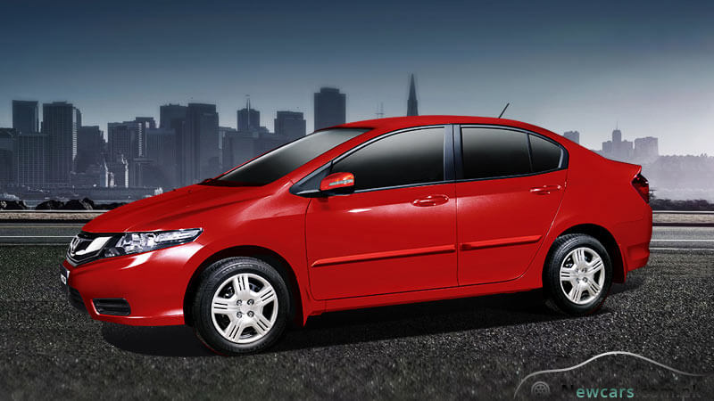 Honda City Carnelia Red Colour