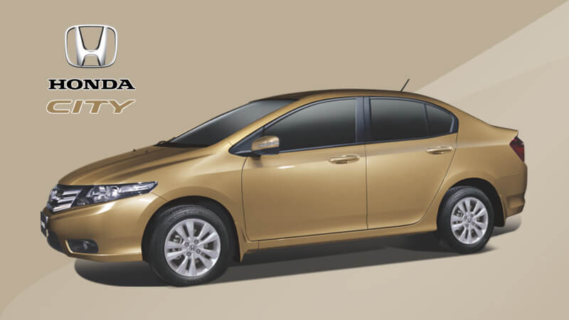 Honda City in Bold Beige Color
