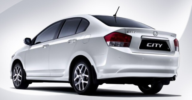 Attractive Honda City White Back Side View