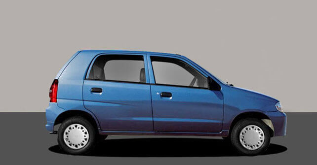 Suzuki Alto Dark Blue Color Side Full View