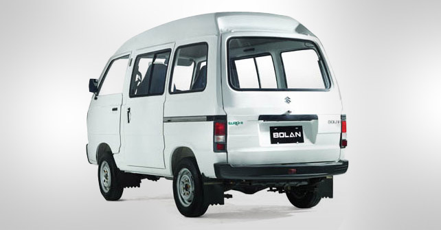 Suzuki Bolan White Color Back Side Full View