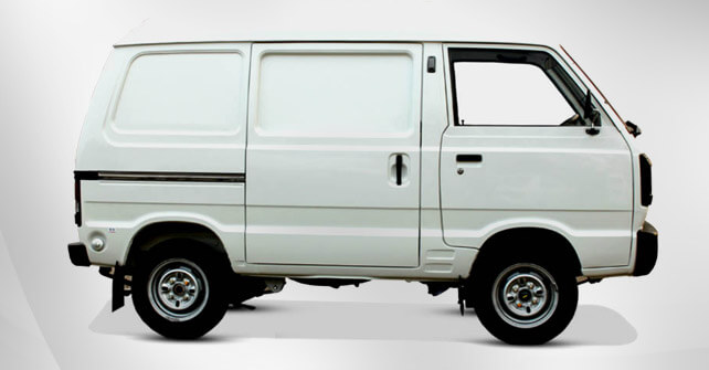 Suzuki Cargo Van White Color Full View Side