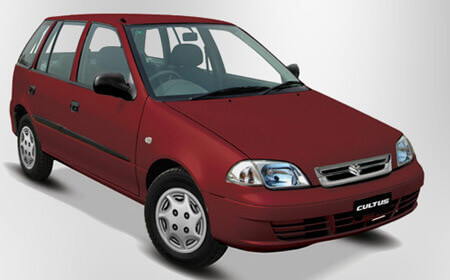 Suzuki Cultus exterior Red Color Front Full View