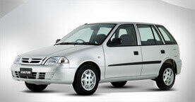 Suzuki Cultus White Color Side View