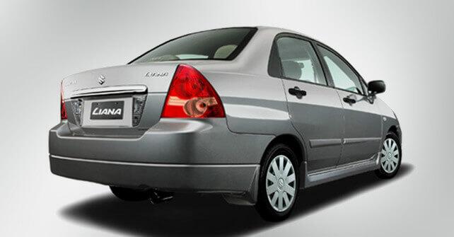 Suzuki Liana Grey Color Back Side Full View