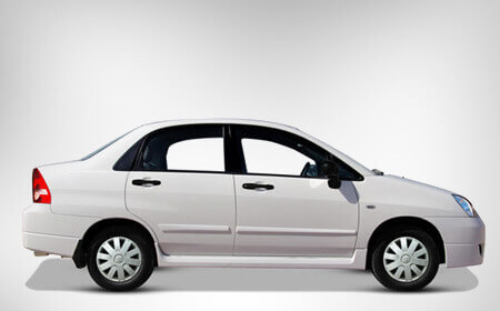 Suzuki Liana White Color Exterior Side Full View