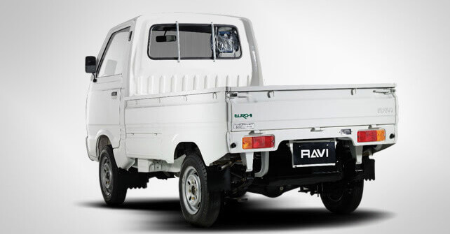 Suzuki Ravi White Color Back Side View