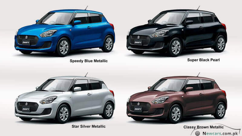 Suzuki Swift 2018 Different Colors