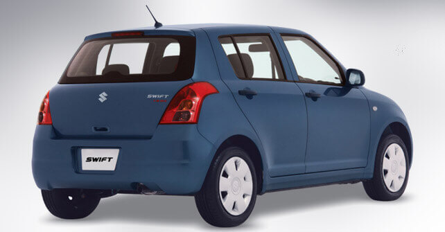 Suzuki Swift Dark Blue Color Back Side