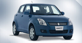 Suzuki Swift Dark Blue Color Front View