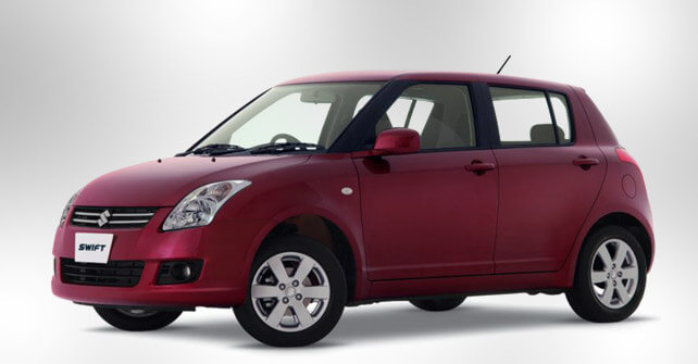 Suzuki Swift Red Color Side View