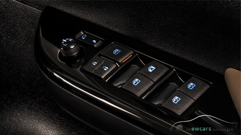 Toyota Hilux Revo Illuminated Central Controls