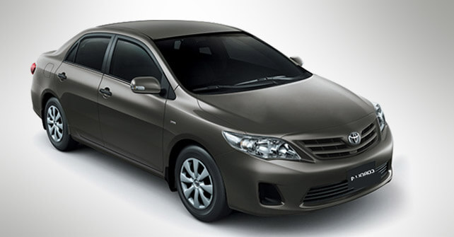 Toyota Corolla Ecotec Black Color Front View