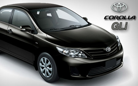 Toyota Corolla GLI  Black Color Full View