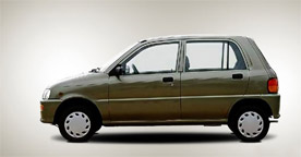 Toyota Daihatsu Cuore Dark Golden Color Side View