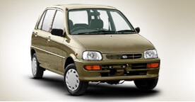 Toyota Daihatsu Cuore Golden Color Full View
