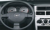 Toyota Daihatsu Cuore Interior Steerig Wheel Full View