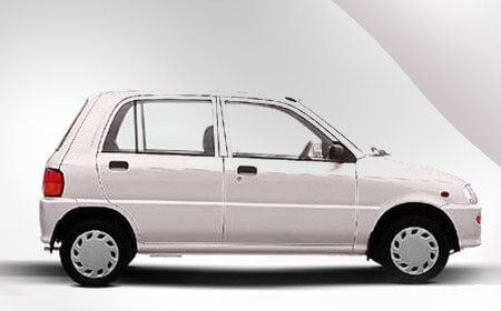 Toyota Daihatsu Cuore White Color Side Full View