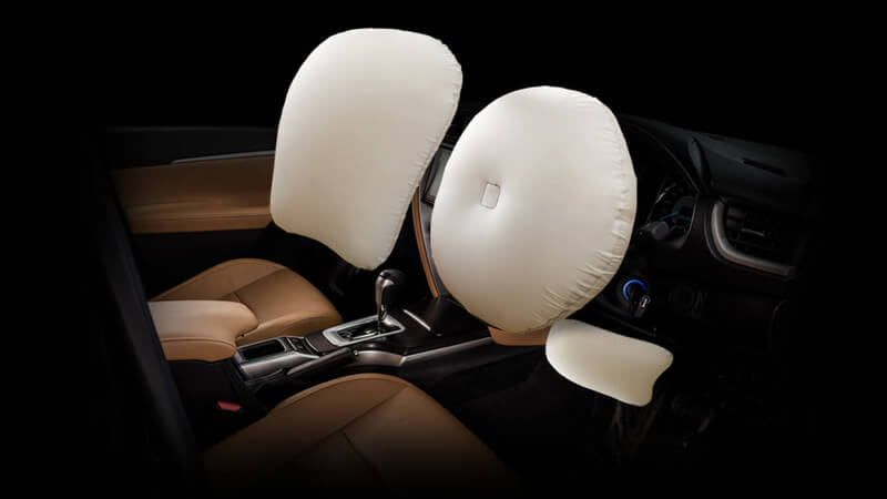 Toyota Fortuner 2017 Airbags
