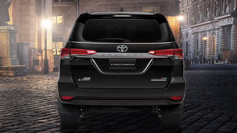 Toyota Fortuner 2017 Back Side View