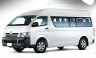 Toyota Hiace White Color Front View