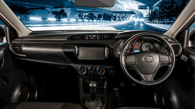Toyota Hilux Dashboard View