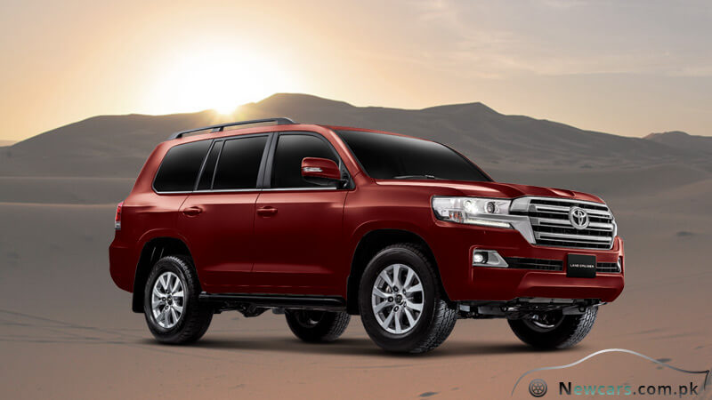 Toyota Land Cruiser Regency Red Color