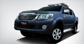 Toyota Fortuner Blue Color Side View