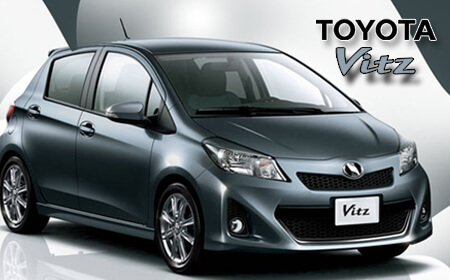 Toyota Vitz Sky Blue Color Full View