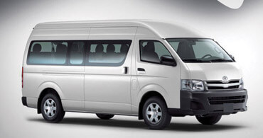 Hiace Dark Grey Color Side View
