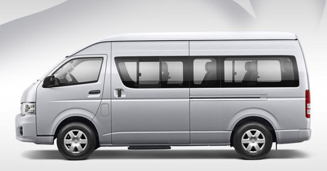 Toyota Hiace Dark Grey Color Side View