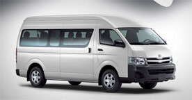 Toyota Hiace Grey Color Side View