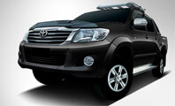 Toyota Vigo Chmap Black Color Front Full View